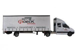 Vrachtwagen 37m³ met laadklep huren in Antwerpen